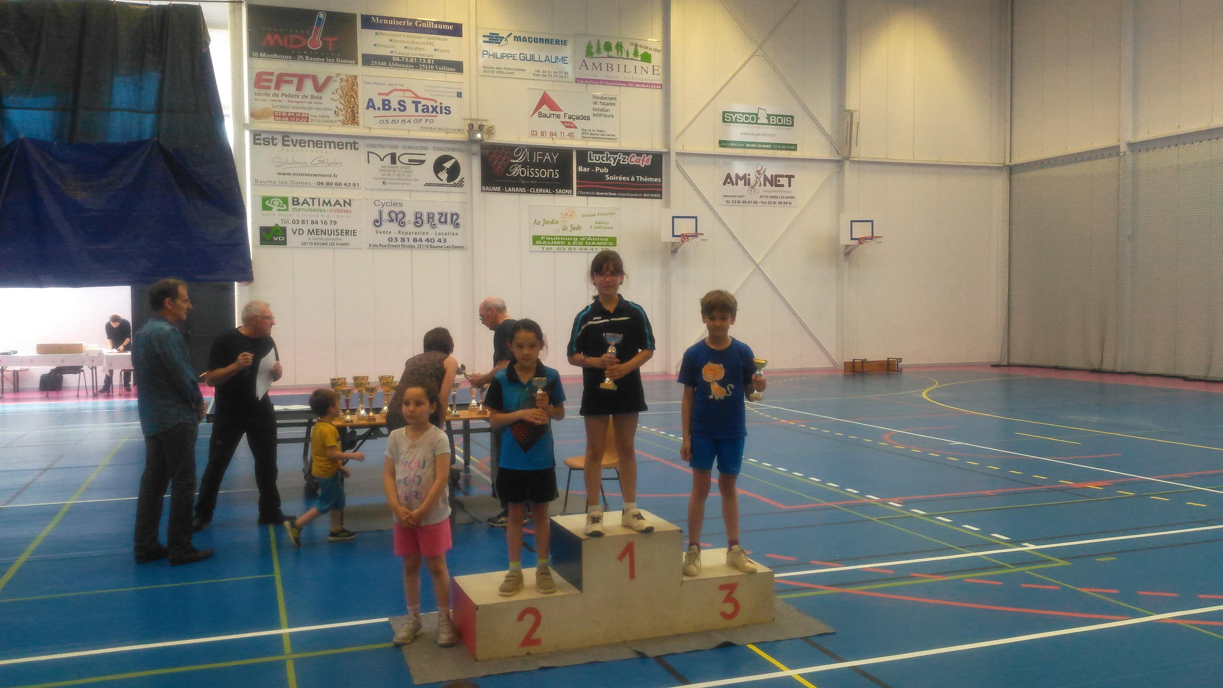 Léa VAYSSE Championne du Doubs 2018 en -9 F
