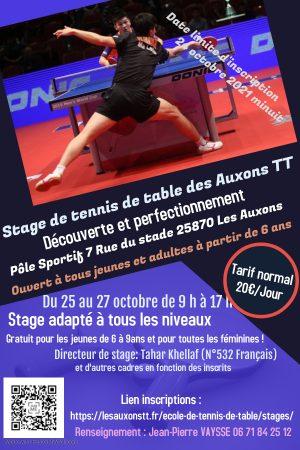 Affiche stage Toussaint