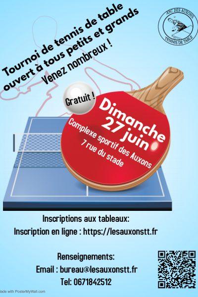 Affiche tournoi 27 juin